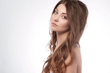 half naked: Beauty of half naked woman Stock Photo
