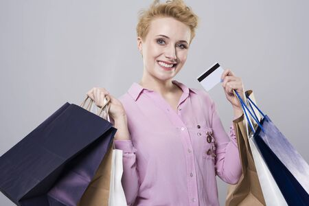 needed: Money is needed to do shopping Stock Photo