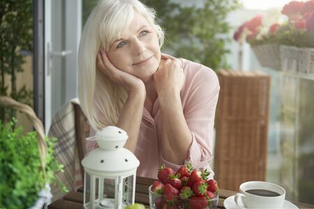 one senior woman only: Thinking of plans for holiday