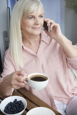 only women: Morning relaxation with a cup of coffee Stock Photo