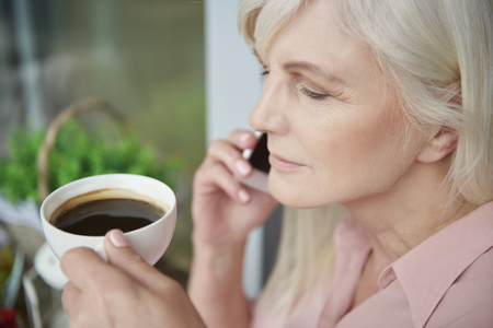 one senior woman only: Gossips and a cup of coffee