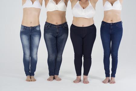 Jeans pour chaque forme de silhouette Banque d'images - 57903998