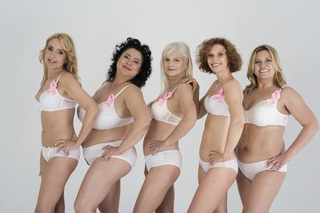 乳がんとの闘いに参加アクティブ 写真素材