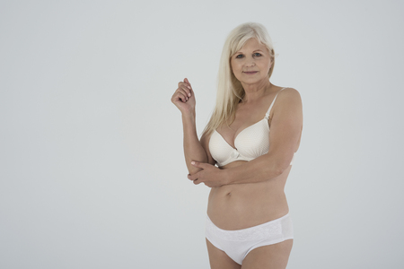 nude blonde woman: This is my natural body