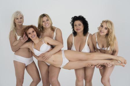 woman naked body: We love naturalness of women Stock Photo