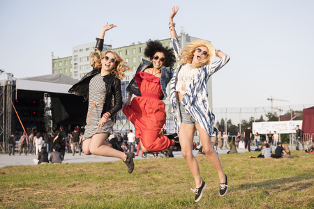High jump at the festival Stock Photo