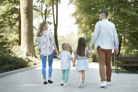 Family walks are the best Stock Photo