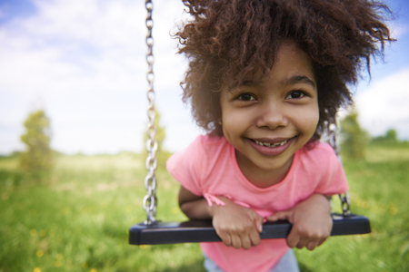 female child: Little girl on the playground