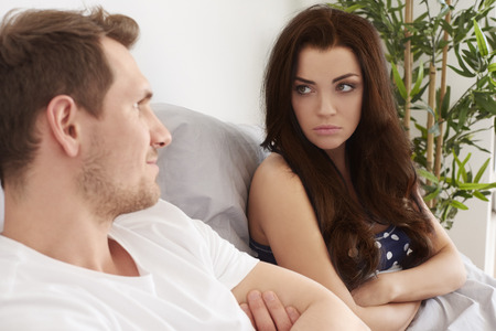 accusations: Young couple has difficult problem in the bed