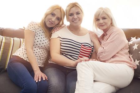 mature women: Portrait of mature friends on the sofa