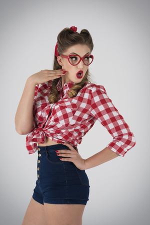 glasses eye: Real shock for pin up girl