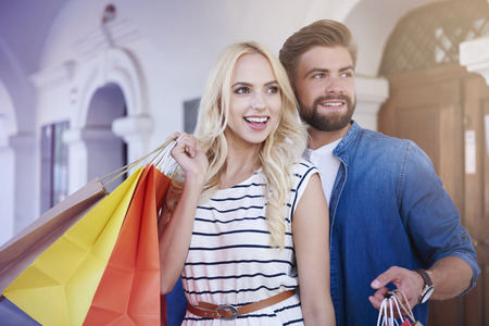 Shopping is the best way for good mood Stock Photo