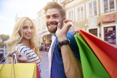 turn away: Shopping time with my girlfriend