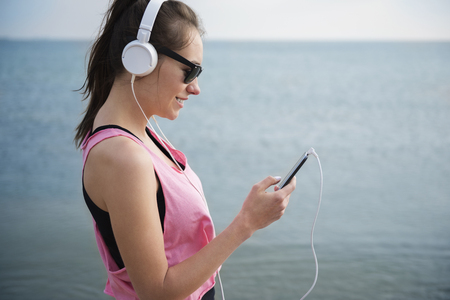 loud music: Loud music from the smart phone Stock Photo