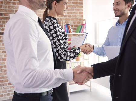 buen trato: Buen reparto entre los socios de negocios Foto de archivo