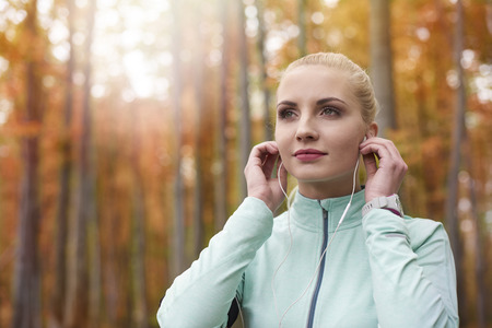 outdoor pursuit: Music is a great motivation
