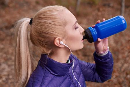 sediento: Sed después de correr largas distancias
