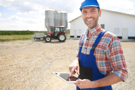 Modern farmer and his business