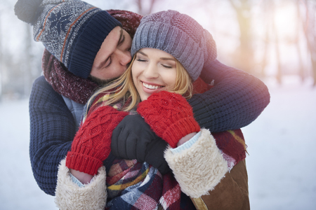 warm clothes: Warm clothes and warm embracing