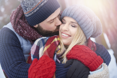 couple dating: Good weather and couple in love Stock Photo