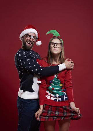 ashamed: Ashamed girl and her funny boyfriend