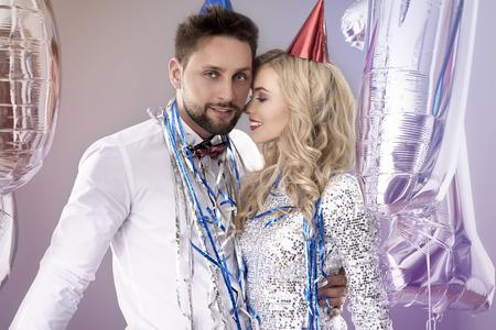 pareja apasionada: Pareja apasionada en la víspera de Año Nuevo