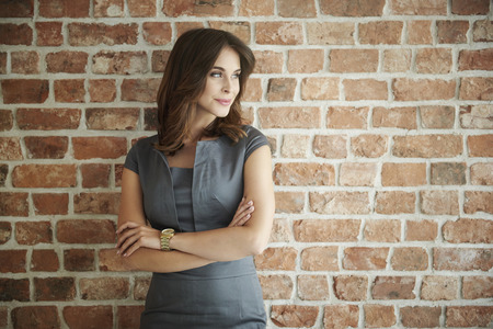 Beautiful business woman looking away Stock Photo