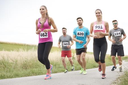non: Running marathon in the non urban scenery