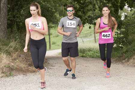 Outdoors marathon in the forest
