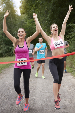 finishing line: Winners on the finishing line
