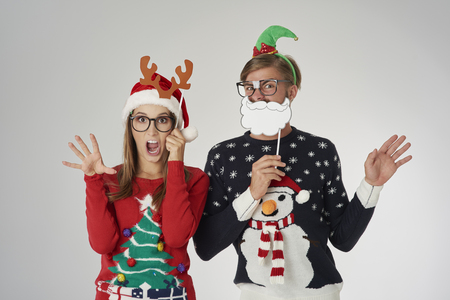 Couple ready for the Christmas time