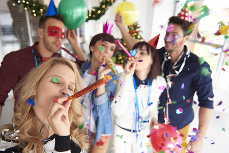 office party: Abundance of confetti and new year party