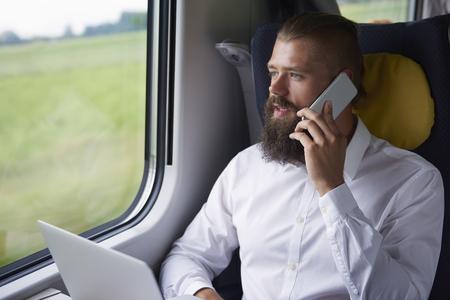 doing business: Doing business while travelling by train