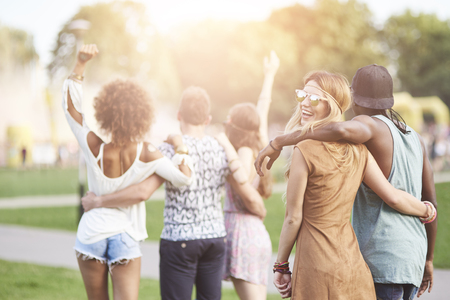 Great fun during the festival Stock Photo