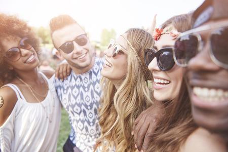 caras felices: Happy faces of young people Foto de archivo