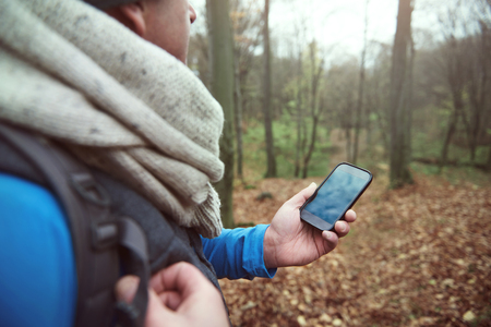 Using mobile phone in the forest