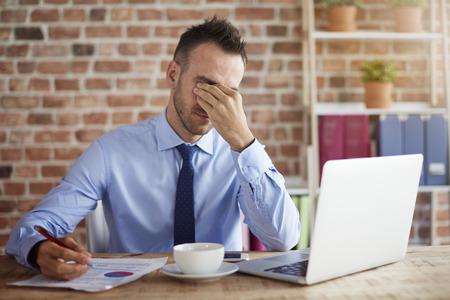 tiredness: Man feels big pressure at work