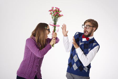 stereotypical: Bad choice to give the flowers
