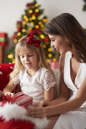 little one: More Christmas gifts for little one Stock Photo