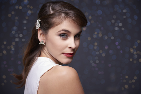 ceremonial make up: Portrait of a very elegant woman Stock Photo