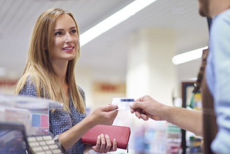 cash card: Last step of the shopping is payment