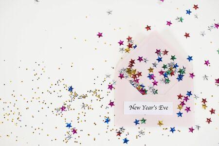 new years day: Wishing you happy New Years Day Stock Photo