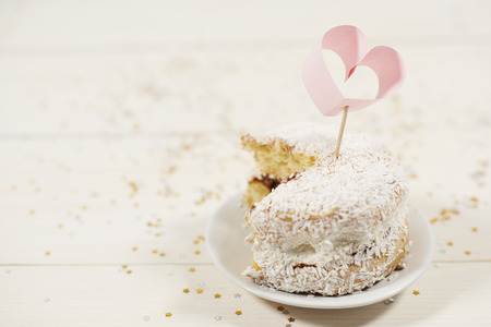 Homemade delicious cupcake on a plate  Stock Photo