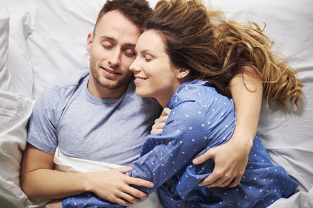 mornings: Magical mornings sharing with your other half  Stock Photo