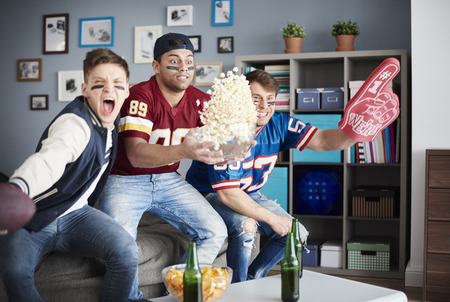 exciting: Exciting scene of American football supporters Stock Photo