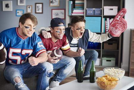 avid: Close up of football avid fans