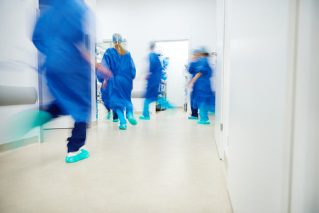 Emergency situation in the hospital Stock Photo