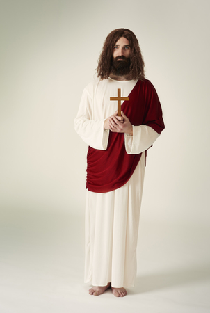Jesus Christ with Christian accessories