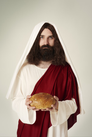 Portrait of Christ with bread