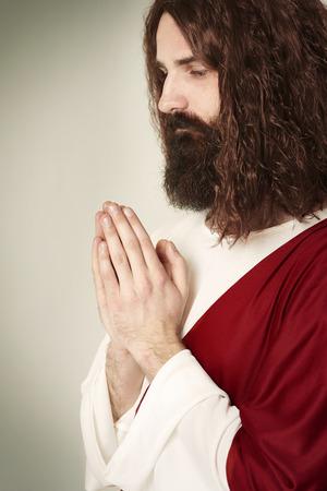 Image of praying Jesus Christ